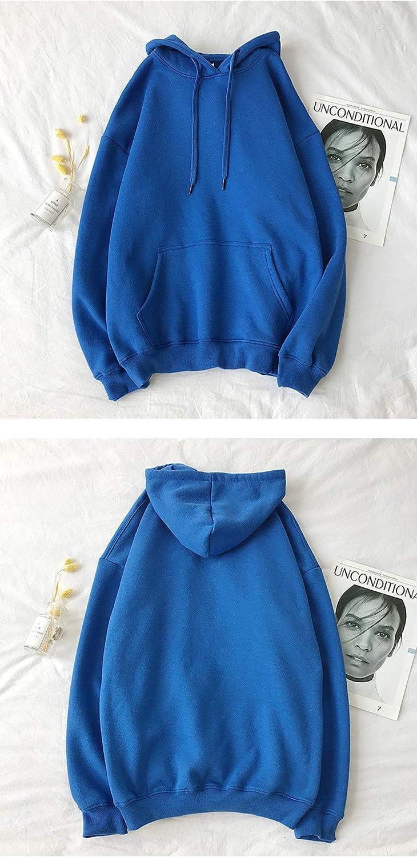JFCDB Frauen Hoodie,Einfarbige Sweatshirts Winter Frauen Solid Hooded Weibliche Baumwolle Verdicken Warme Herbst Tops Hoodies 111