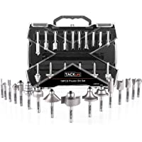 Tacklife 19-Piece Professional Router Bit Set with 4Pcs Extra Bearings