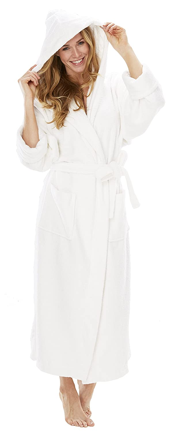 a19dbee65f Turkish Robes Terrycloth Hooded Robe at Amazon Women s Clothing store