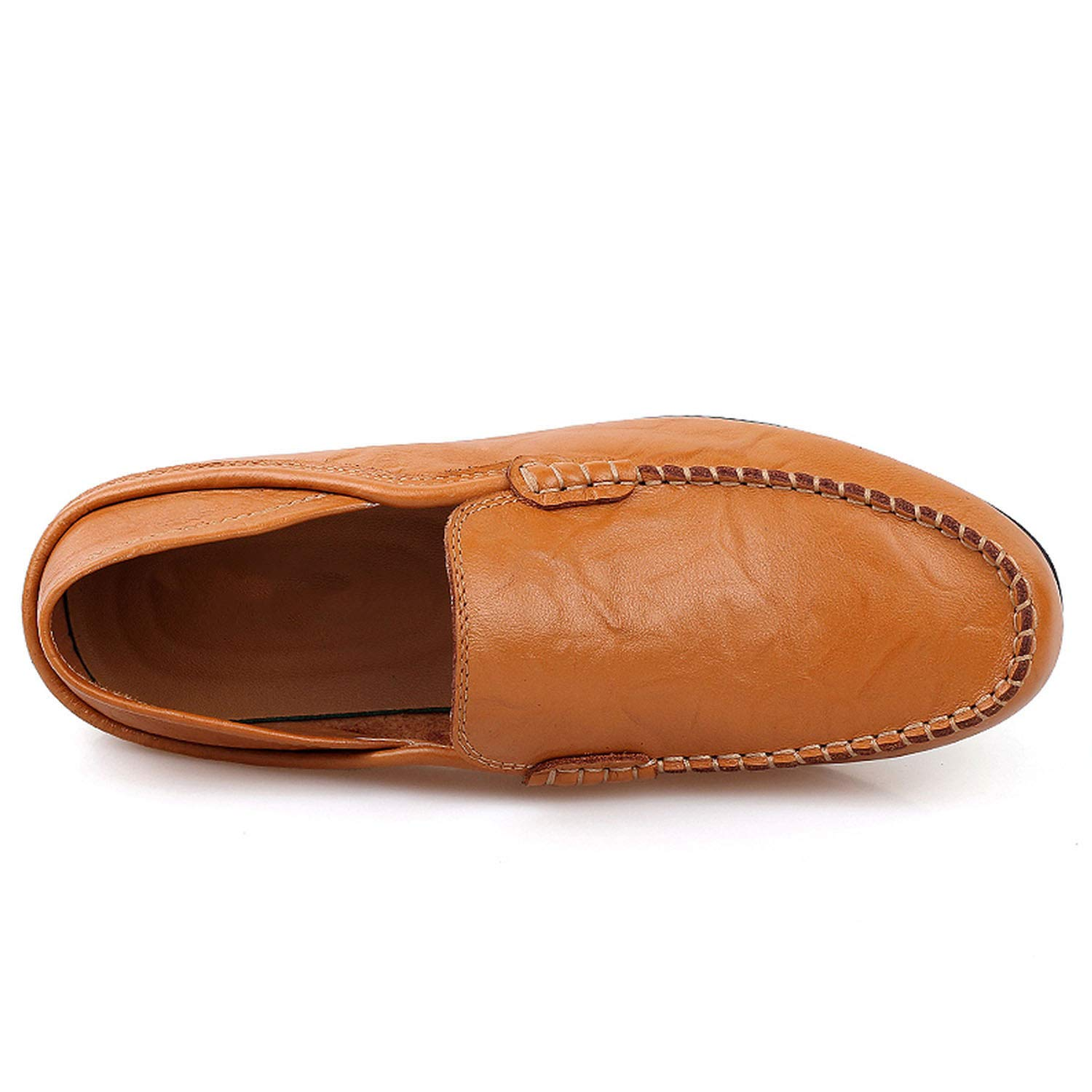 2018 Summer Sneakers Men Genuine Leather Casual Boat Loafers Flats Moccasins Slip On Footwear