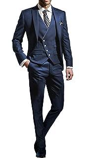 Suit Me Tailored Herren 3 Teilig Anzug Fuer Hochzeiten Party Smoking