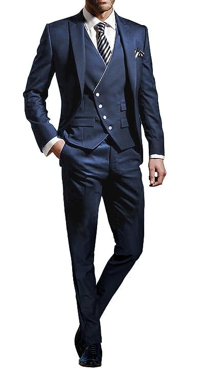 Traje elegante para hombre 3 piezas - Traje Fit delgado para bodas o eventos formales.