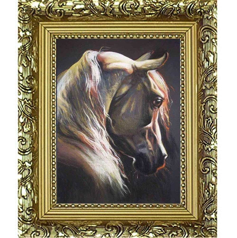 manualidades 30 x 40 cm decoraci/ón de pared Kit de pintura de diamantes 5D,diy pintura al oleo por numeros bordado de cristales de caballo,diamond painting para punto de cruz lienzo