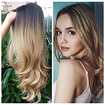 Amazoncom Hand Made Front Ombre Color Long Blonde