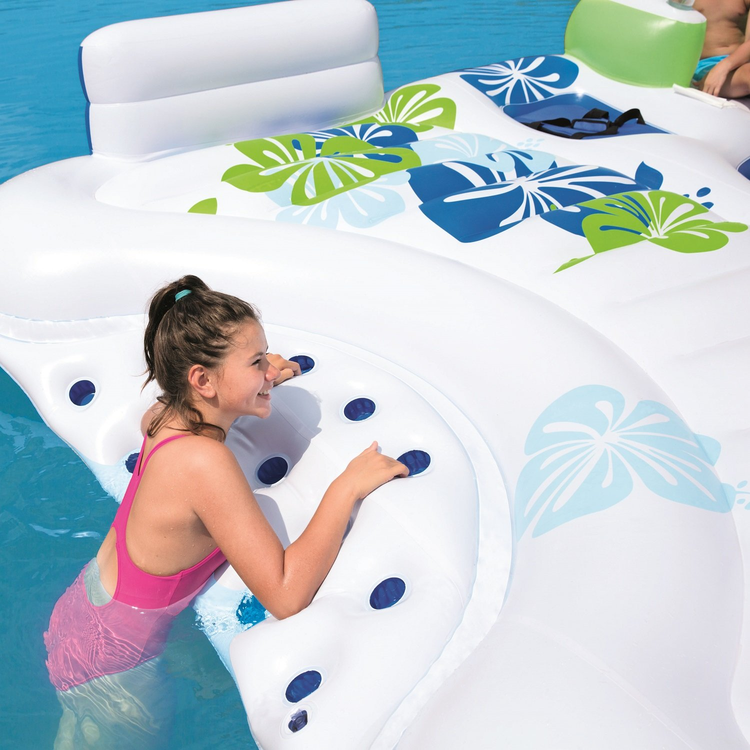 Bestway Coolerz X5 Seven Person Floating Canopy Island Seat - Amazon com coolerz x5 canopy island inflatable floating river raft toys games
