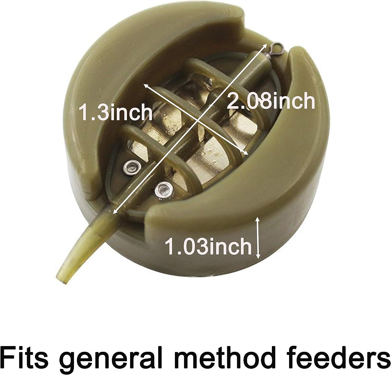 1 Satz Karpfenangeln Inline Method Feeder 4 Feeders 25 Moul N1D1 T4T5 D5E5