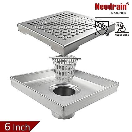 Amazon.com: Neodrain - Desagüe de ducha cuadrado con rejilla ...
