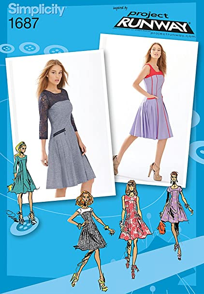Amazon Simplicity 1687 Project Runway Dress Size 4 6 8 10