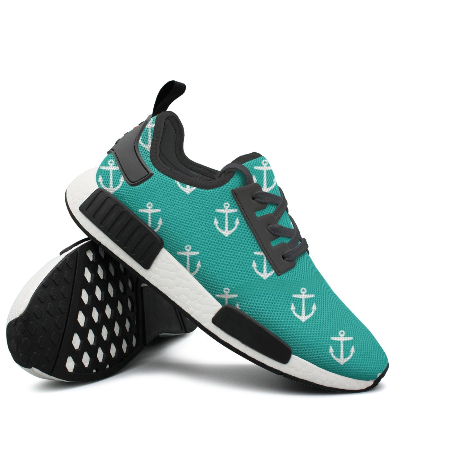 CVOIREWKLL Anchors Repeated Wear-resistant Classic Stylish Print Hiking Shoes