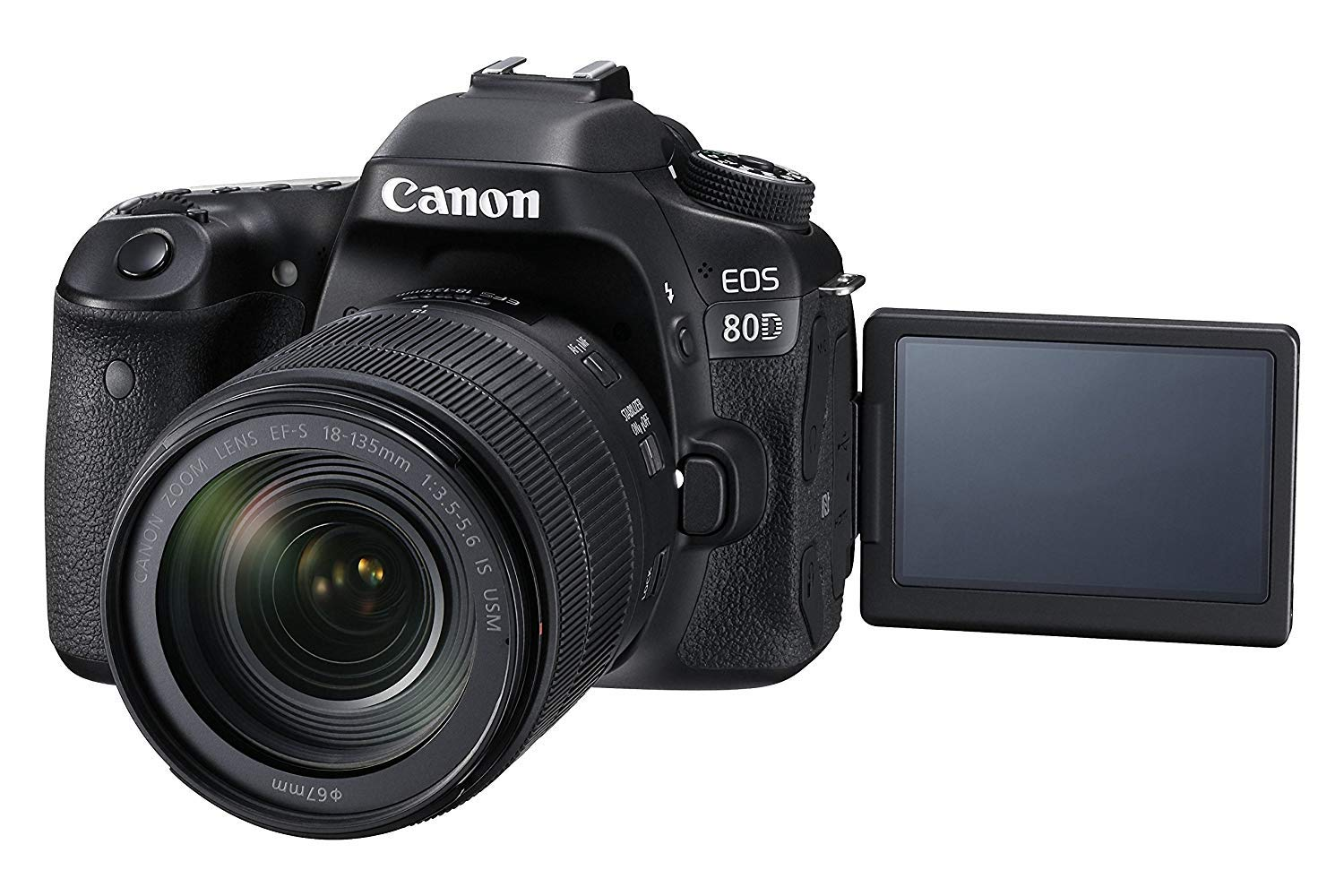 Canon EOS 80D 18-135mm IS USM Lens Kit - 24.2 MP, SLR Camera