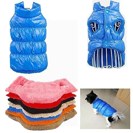 Kismaple Perro de mascota / gato Chaqueta de abrigo Impermeable Winter Warm Jackets Abrigos Chaleco pequeño