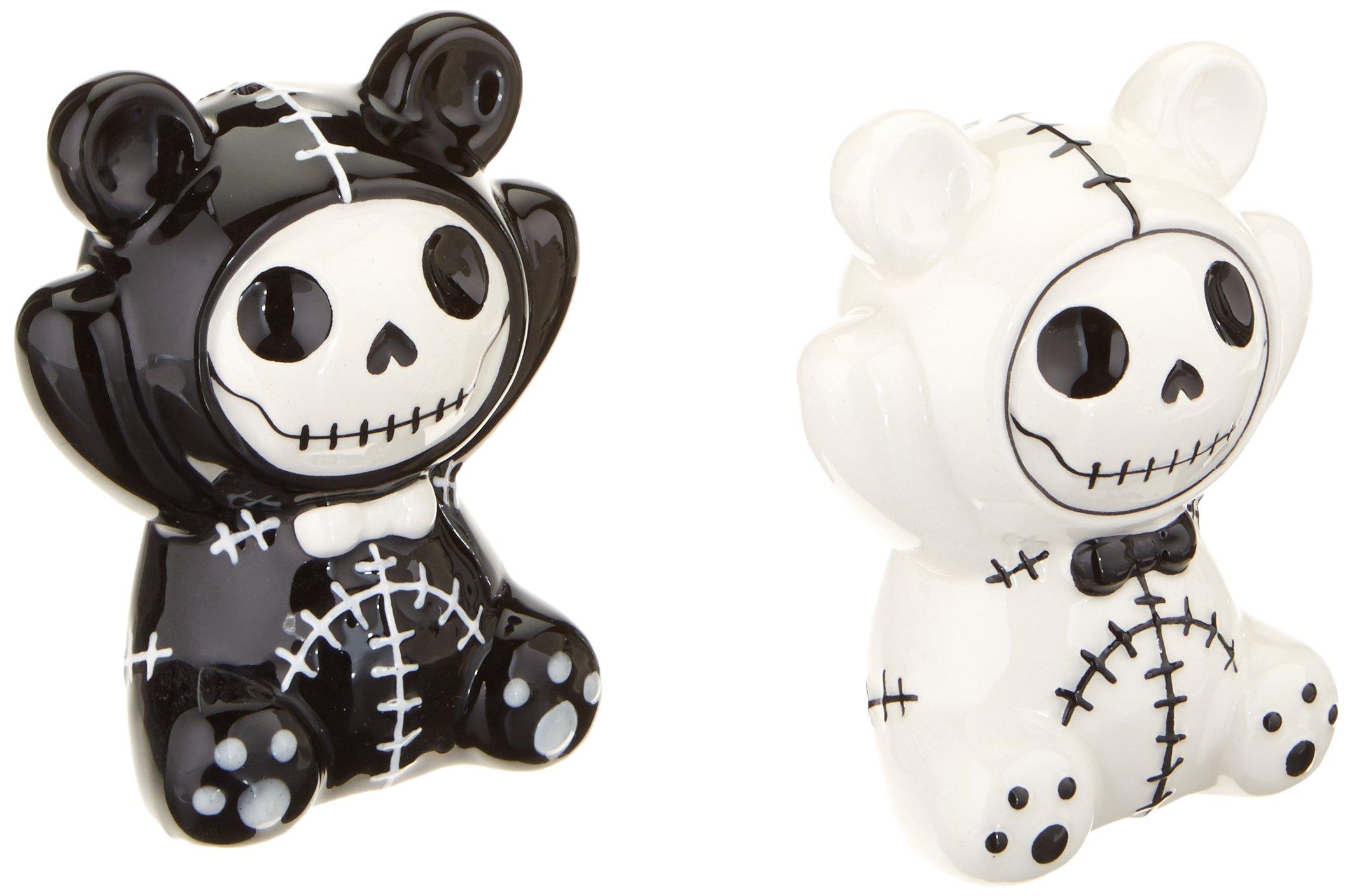 Pandie Panda Bear Furry Bones Salt N Pepper Shaker