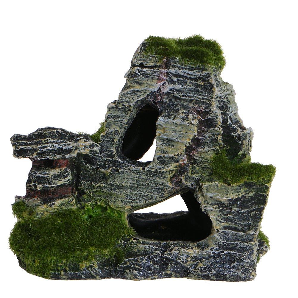 paesaggio roccioso decorazione per acquario 3 grotta per nascondiglio Forgun albero ornamento per acquario con vista di montagna