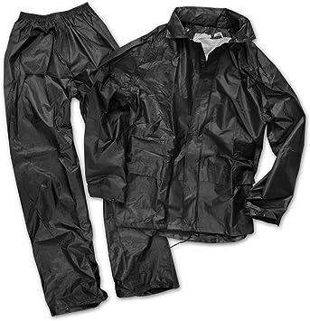 absolut wasserdicht Regenset bestehend aus Jacke und Hose Farbe schwarz lieferbar von M//L//LXL//XXL//XXXL