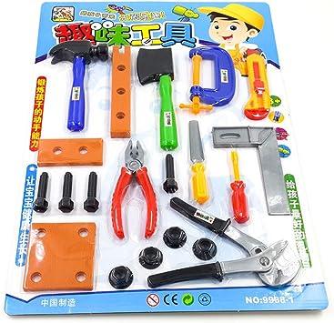 TOYMYTOY Caja de herramientas para niños de Kit de reparación de reparaciones Juguetes educativos para niños y niñas (20 piezas) : Amazon.es: Juguetes y juegos