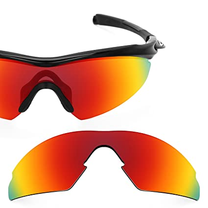 a8a31aa44a1 Revant Polarized Replacement Lens for Oakley M2 (Aero) Fire Red MirrorShield