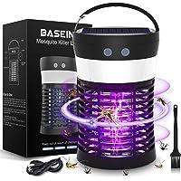 BASEIN Lámpara UV Mosquito Killer, Luz Solar Bug Zapper, 3 en 1 Portátil SOS Camping Linterna Mosquito Zapper, Solar y…
