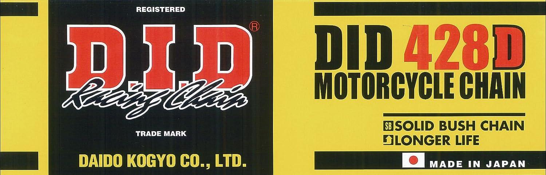 D.I.D Catena 428 D, 140 Denti (Standard), Aperta Con Chiusura A Clip 140Denti (Standard) Daido Kogyo Co. LTD. 428DX140RB