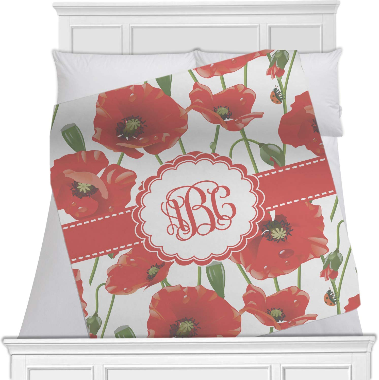 Poppies Blanket ( Personalized ) Approx. 80