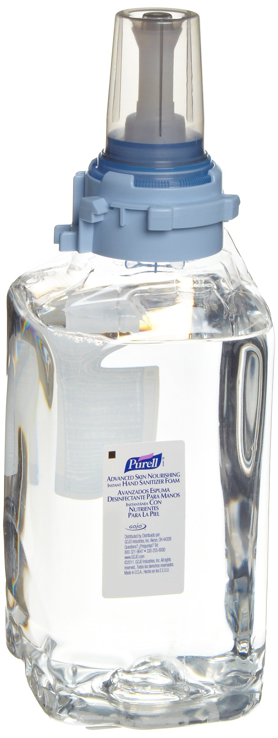 Purell 8806-03 Clear Advanced Skin Nourishing Instant Hand Sanitizer Foam, 1200mL Refill (Case of 3) by Purell