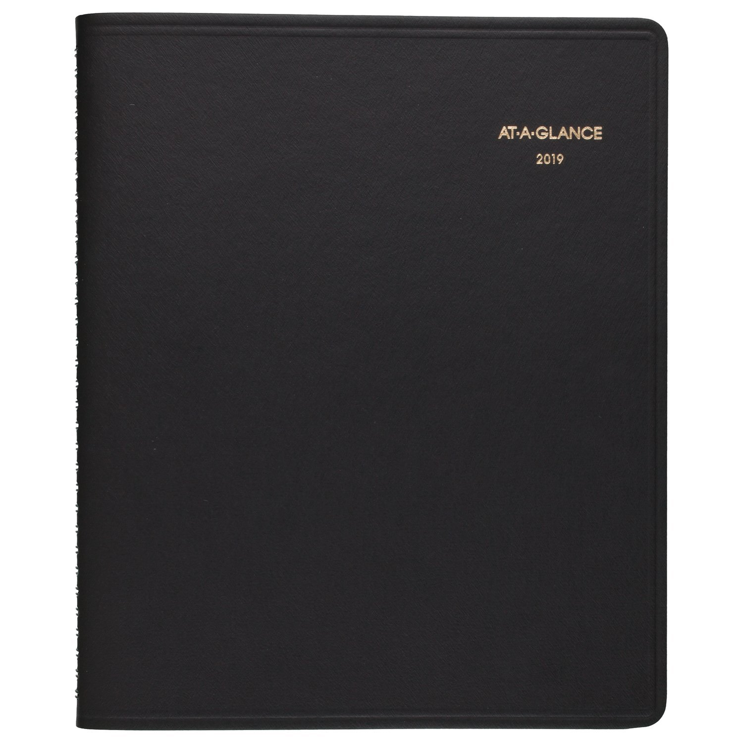at-A-Glance Monthly Planner, January 2019 - December 2019, 6-7/8'' x 8-3/4'', Medium Size, Black (7012005)