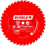 Freud D1040A Diablo 10-Inch 40-Tooth ATB General Purpose Saw Blade with 5/8-Inch Arbor and PermaShield Coating,