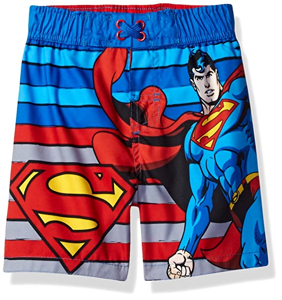 7275acad86 Warner Bros. Toddler Boys' Superman Swim Trunk, Blue, 3T: Amazon.in ...