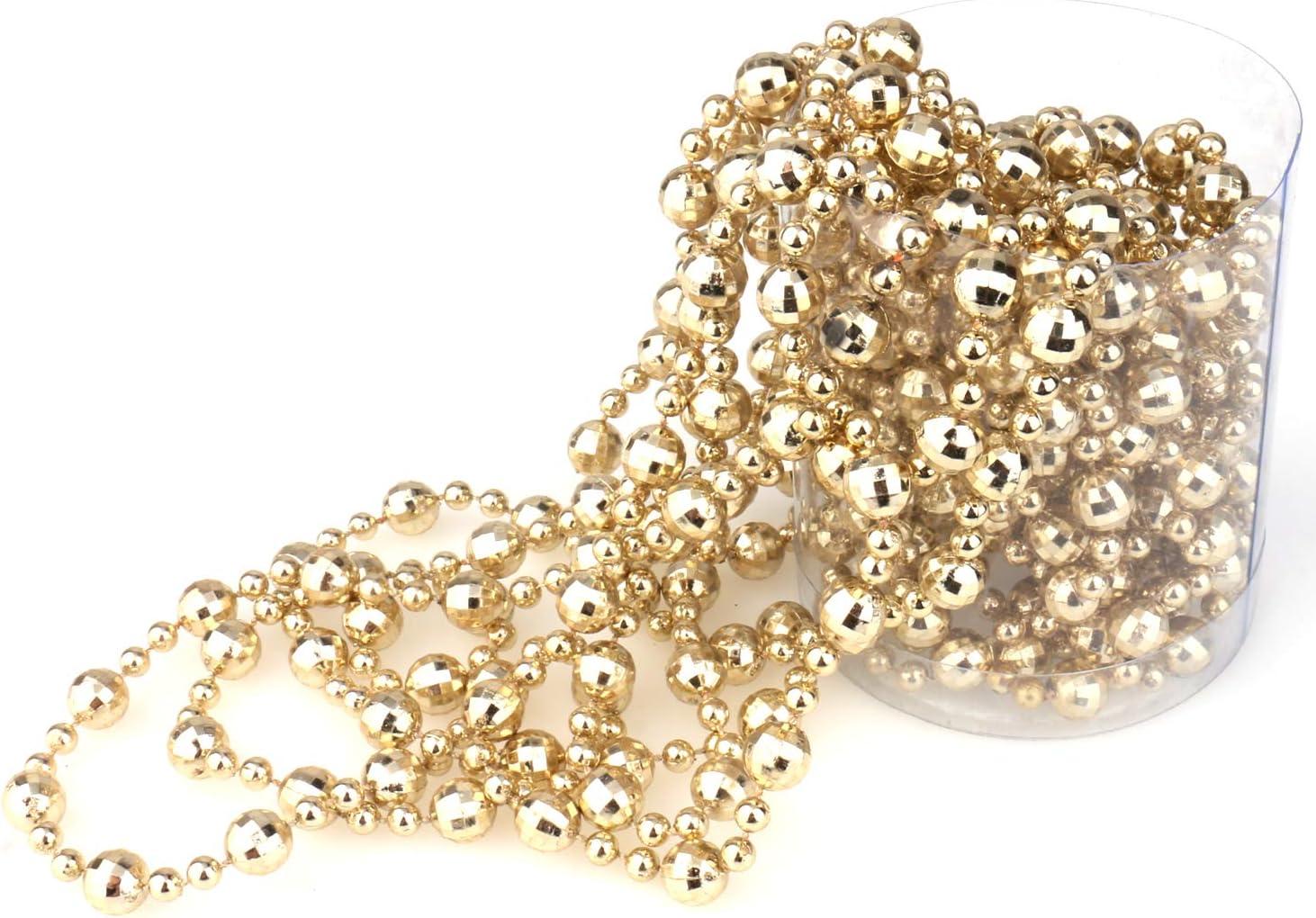 Amazon Com Inxens 16 5 Ft Gold Bead Garland Christmas Tree