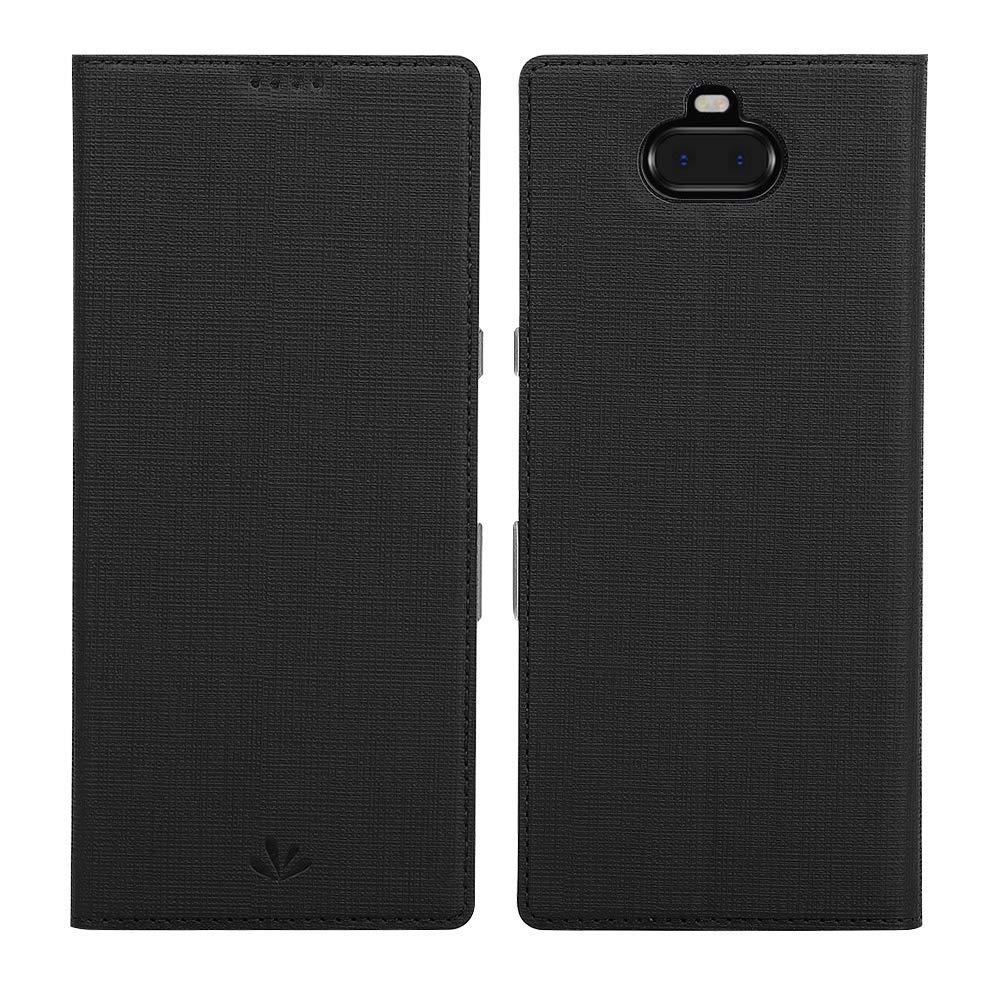 Funda para Sony Xperia 10 Plus (con tapa, negra)