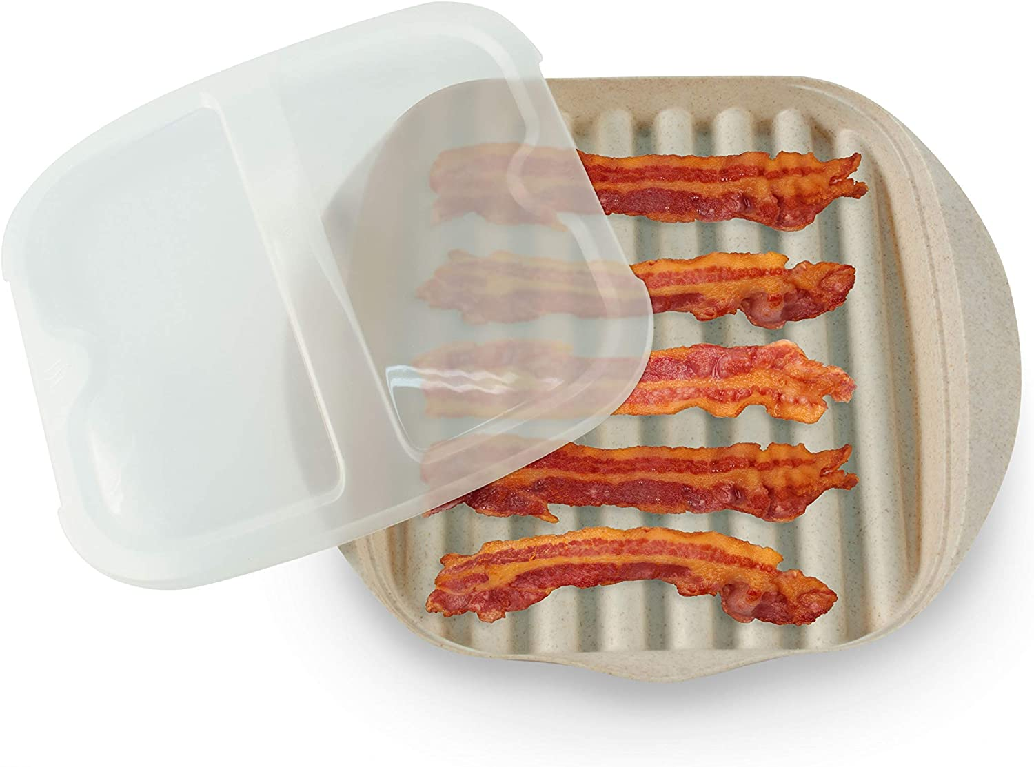 Non-Toxic BPA Free Handy Gourmet Eco Friendly Microwave Bacon Cooker