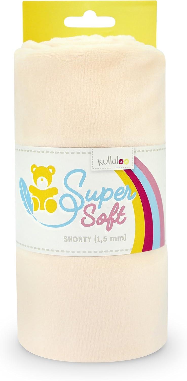 100 x 75 cm Minky Blau kullaloo Supersoft Shorty SB-Pack Pl/üschstoff