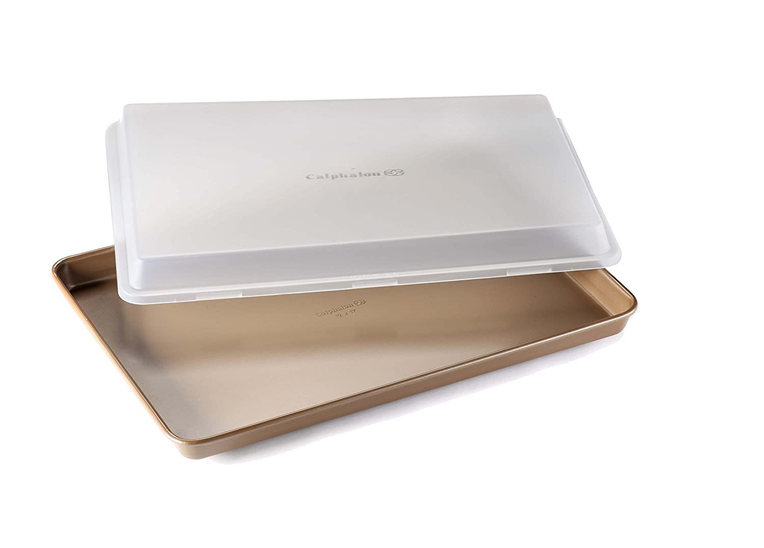 "Calphalon Nonstick Bakeware Baking Sheet with Cover, 12"" by 17"", Toffee"