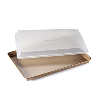 Calphalon Nonstick Bakeware Baking Sheet with Cover, 12  by 17 , Toffee