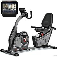 Sportstech Vélo d'Appartement Semi-allongé ES600 ergomètre allongé avec Commande par Application Smartphone et générateur d'électricité, Ceinture Cardio optionnelle, Dossier, Dispositif Cardio HRC