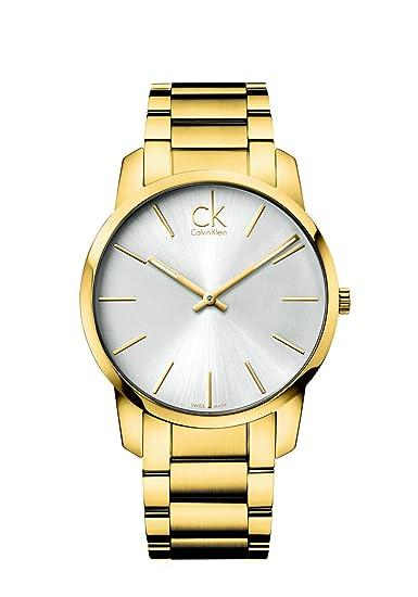 Calvin Klein 0 - Reloj de cuarzo para hombre, con correa de acero inoxidable chapado