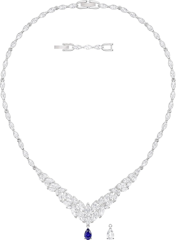 Swarovski Collar Louison, de Mujer, Blanco, Baño de Rodio