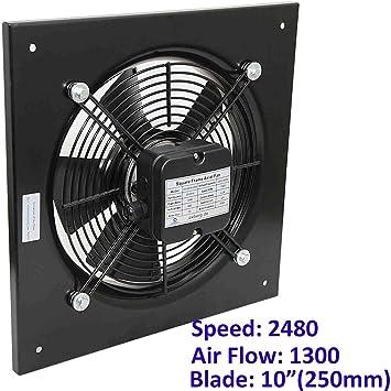Ventilador industrial axial para edificio comercial. Extractor de ventilación: Amazon.es: Hogar