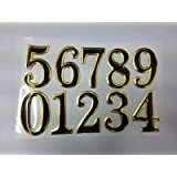 SystemsEleven GOLDEN / BLACK STICKY PROPERTY NUMBERS set for lockers doors house office bins