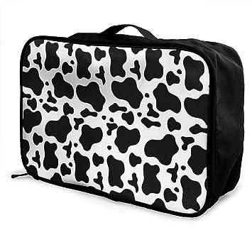 Amazon.com: Bolsa de viaje con estampado de vaca para ...