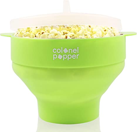 Colonel Popper microondas palomitas popper, un tazón de palomitas ...