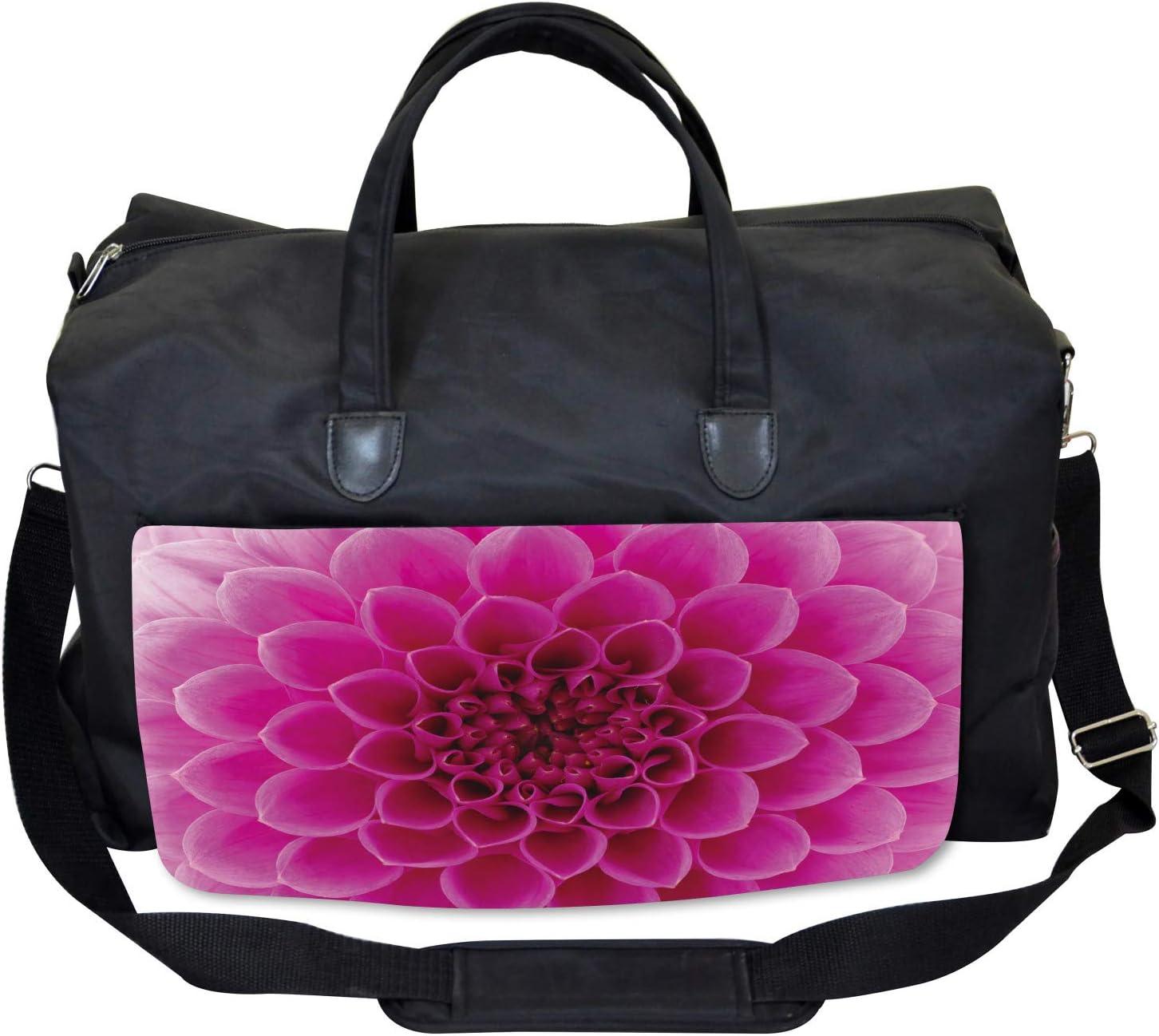 Fresh Bloom Petal Nature Ambesonne Floral Gym Bag Large Weekender Carry-on