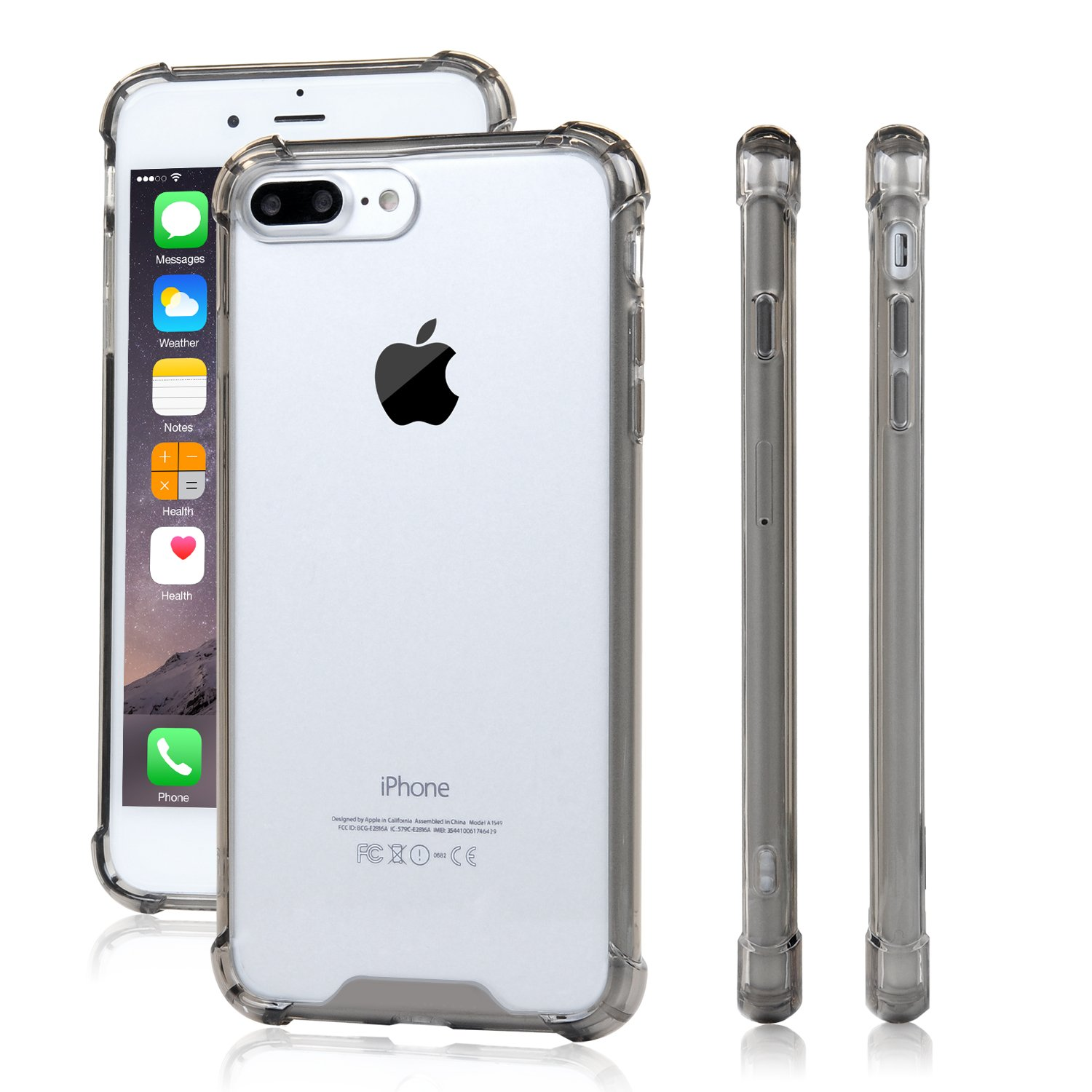 Iphone 7 Plus Case Momocity Tpu Bumper With Crystal Clear Pc Back Drop Protec.. 16