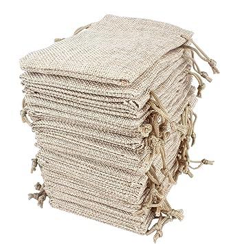 Amazon.com: hapdoo 30 unidades Burlap bolsas con cordón ...