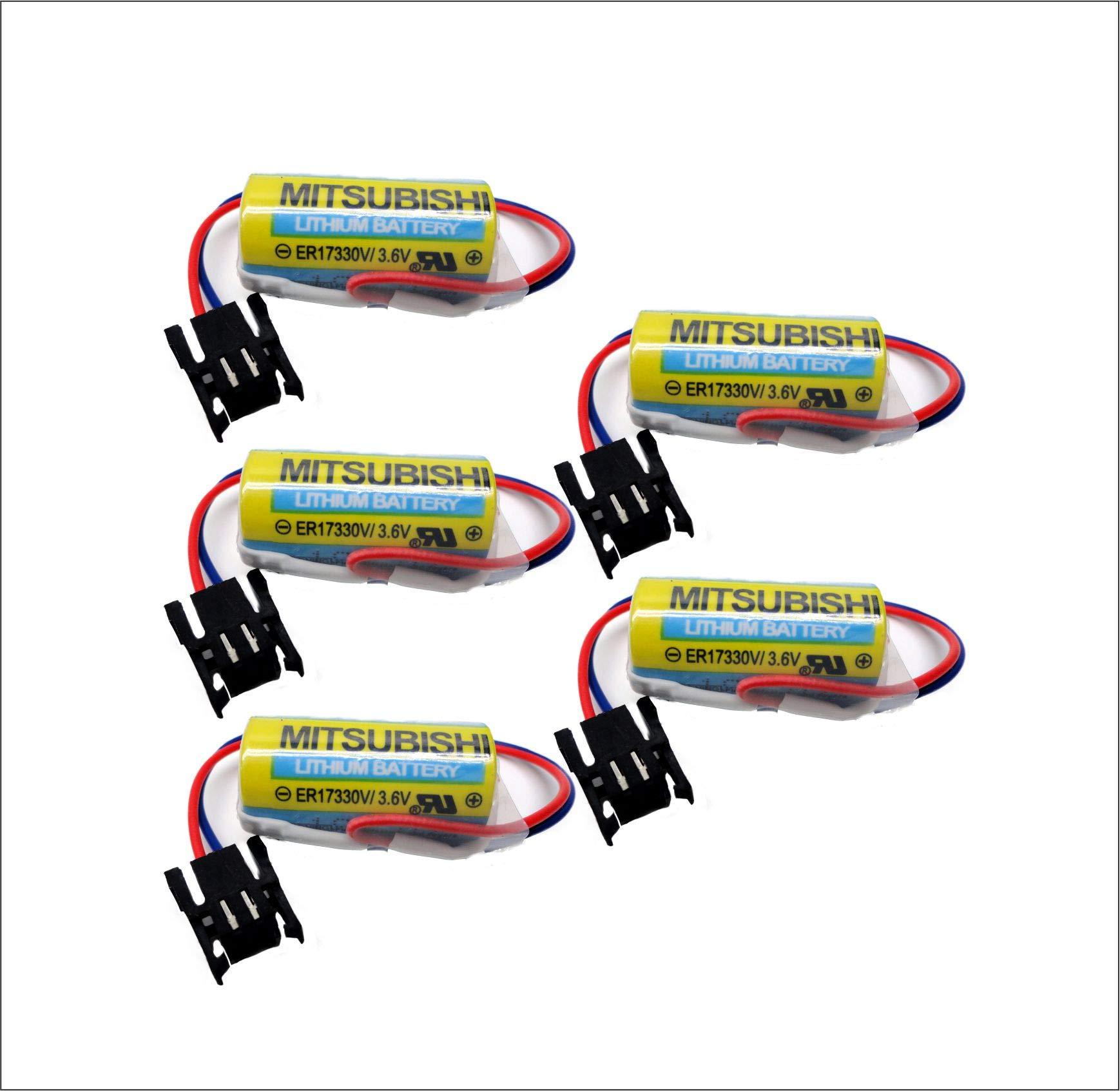 5PC Mitsubishi ER17330V/3.6V,A6BAT-MRBAT Battery 3.6V PLC