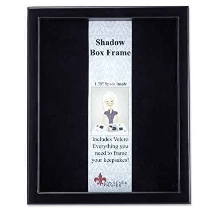 Amazon.com - Lawrence Frames 790011 Black Wood Shadow Box Picture ...