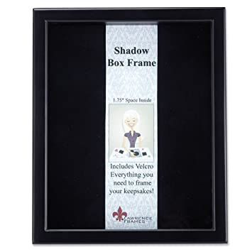 lawrence frames 790011 black wood shadow box picture frame 11 by 14 inch