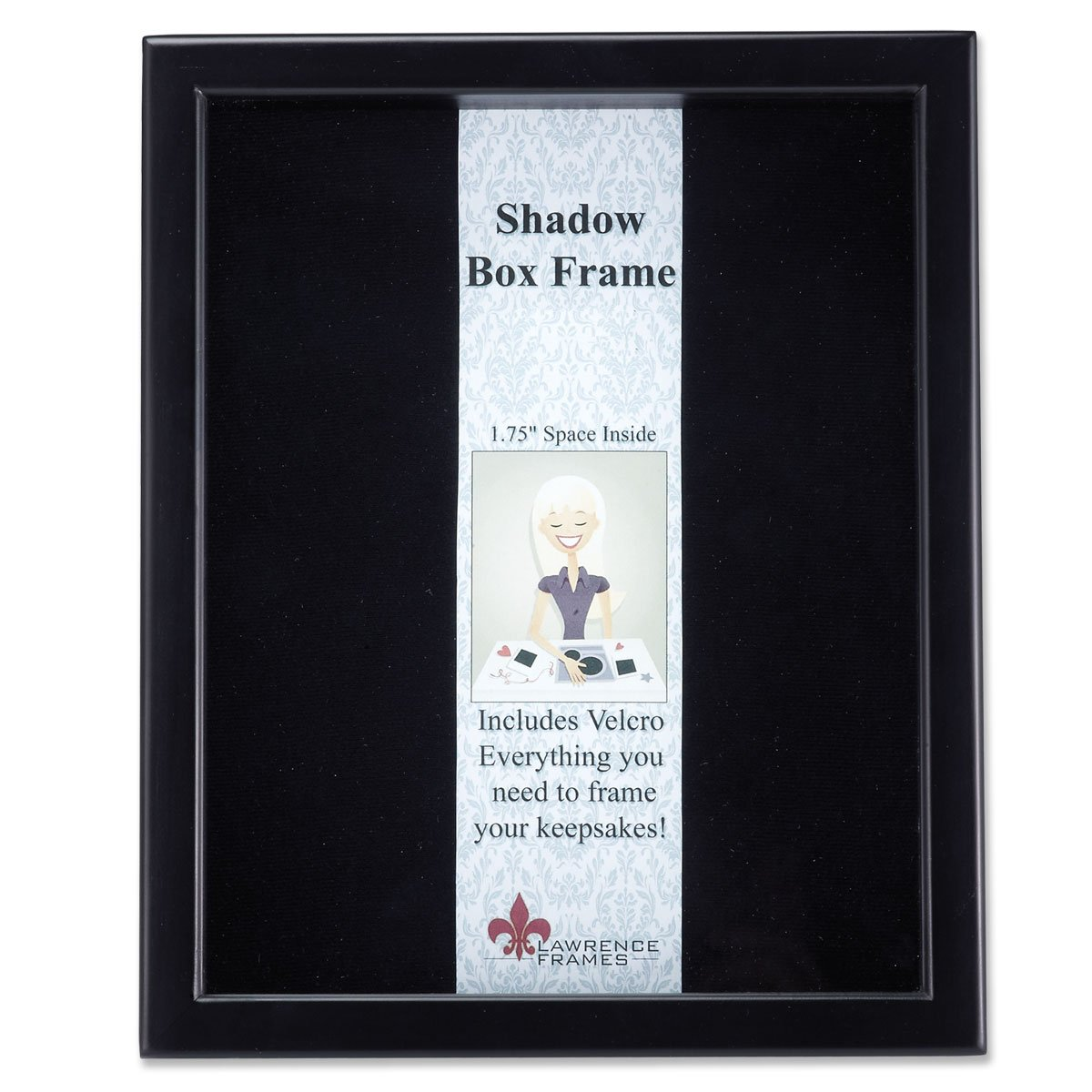 Lawrence Frames 790011 Black Wood Shadow Box Picture Frame, 11 by 14-Inch by Lawrence Frames