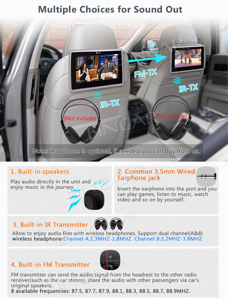 New Arrival 9 Inch Tablet Style Ultra Thin Dual Car Direct Tv Wiring Diagram In Addition Dvd Headrest Players 2 Pcs Rear Seat Entertainment Systems Support Usb Sd Hdmi Ir Fm