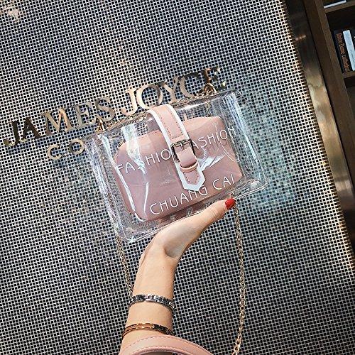 Shoulder Size De Paquete Zhanying Pink Diagonal color Messenger Fashion Moda Para Diseño Bag Wild Kelly S Hija Bolsa Black Portátil Casual Mujer f6HwFqxH5d