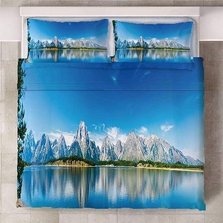 Copripiumino Iceberg.Axgthqe Trapunta Stampata Lago Iceberg Microfibra Camera Da Letto